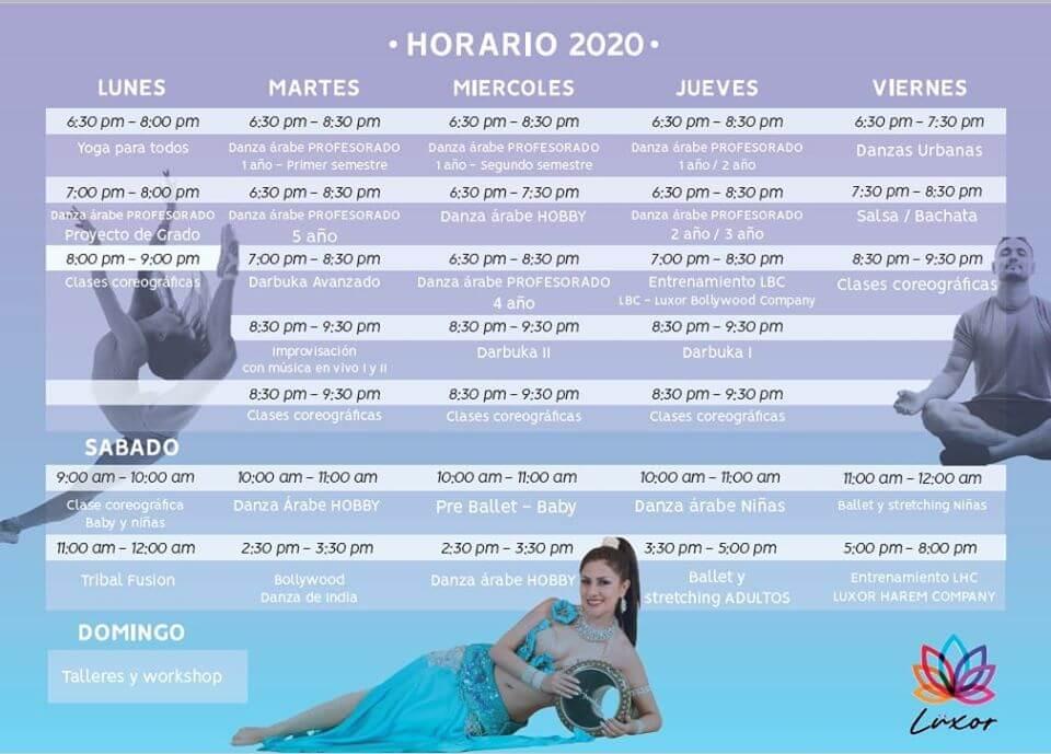 Horario 2020