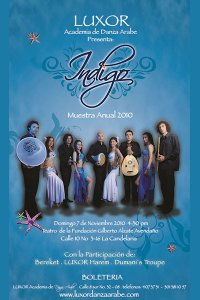 Luxor Danza Árabe Indigo