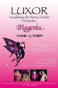 Luxor Danza Árabe - Magenta Magia y Pasión Luxor Academia de Danza Árabe - Nuestros Shows
