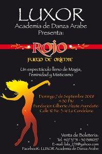 Luxor Danza Árabe Rojo Luxor Academia de Danza Árabe - Nuestros Shows